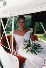 Bride in buggy